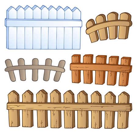 enclosures: Cartoon collezione recinzioni - illustrazione vettoriale Vettoriali
