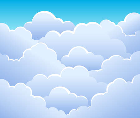 stormy: Cloudy sky background 3 - vector illustration