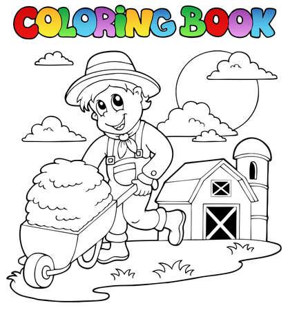 Coloring book farm theme 3 - vector illustration Stock Vector - 13356171