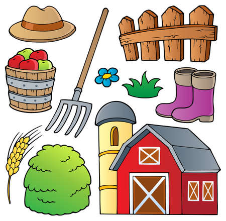 barnyard: Farm theme collection 1 - vector illustration