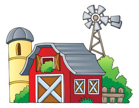 granero: Granja de la imagen el tema 1 - ilustraci�n vectorial Vectores
