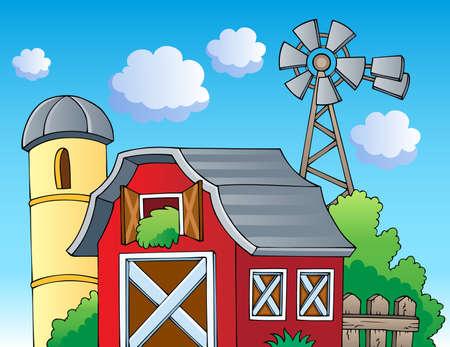 grainery: Farm theme image 2 - vector illustration