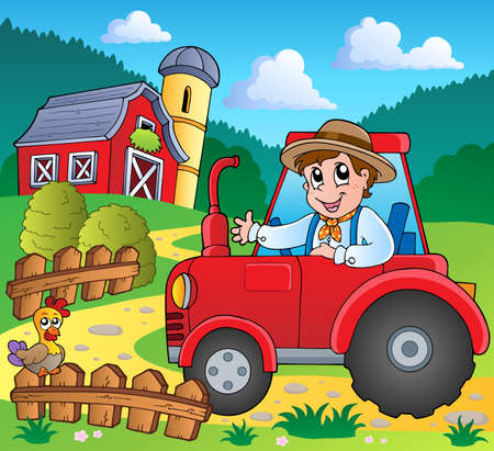 barnyard: Farm theme image 3 - vector illustration