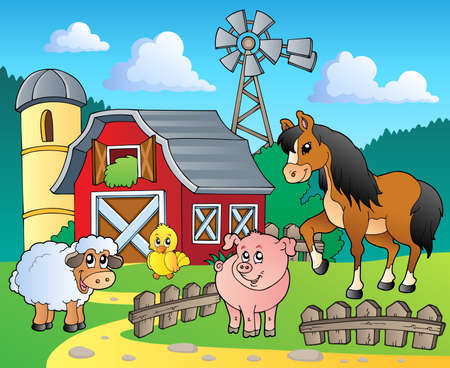 animal themes: Farm theme image 4 - vector illustration  Illustration
