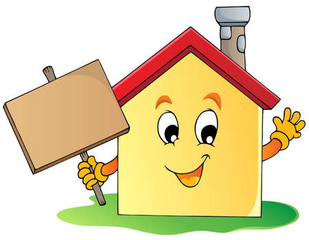 happy house: House theme image 2 - vector illustration