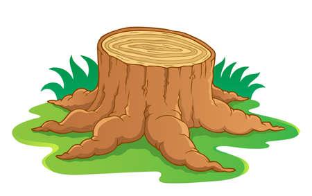 Afbeelding met boomwortel thema 1 - vector illustratie