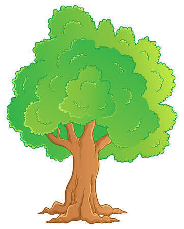 treetop: Tree theme image 1 - vector illustration