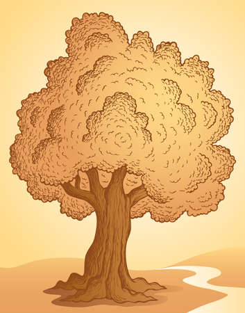 arboles frondosos: Árbol de la imagen Tema 3 - ilustración vectorial