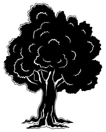 treetop: Tree theme image 4 - vector illustration