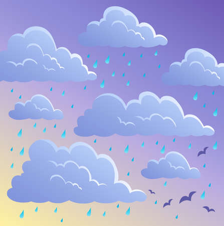 Cloudy sky background 4 - vector illustration  Vector