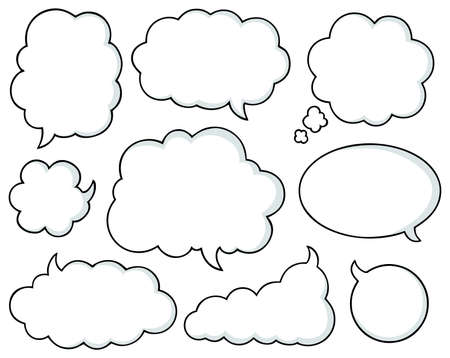 Comics bubbles collection 1 - vector illustration  Vector