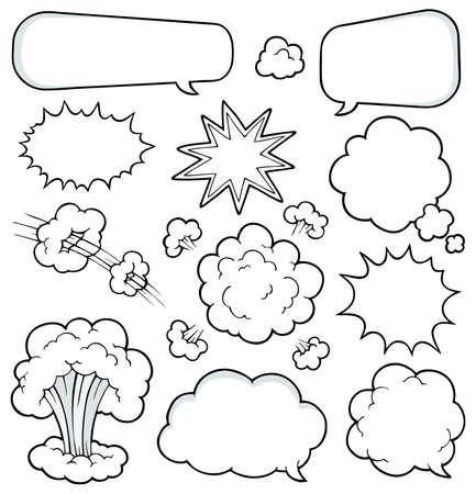 пыль: Комиксы элементы коллекции 2 - векторные иллюстрации Иллюстрация