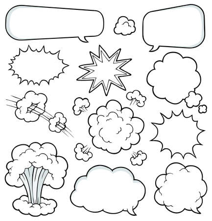 Comics elements collection 2 - vector illustration  Ilustração