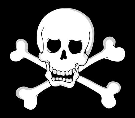 roger: Pirate skull theme 2 - vector illustration  Illustration