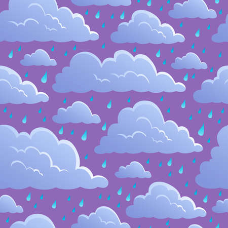 Seamless background with clouds 5 - vector illustration  Stock Vector - 13665311