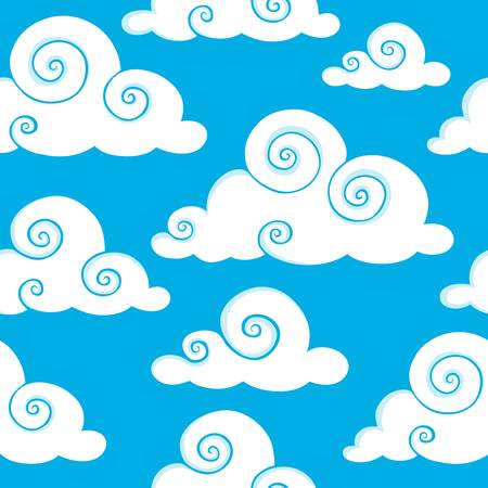 meteo: Seamless background with clouds 6 - vector illustration