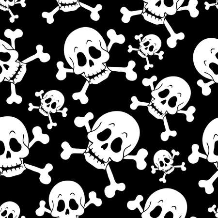 Seamless pirate theme background 1 - vector illustration  Vector