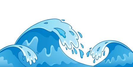 vague ocean: Vagues de 1 image du th�me - illustration vectorielle