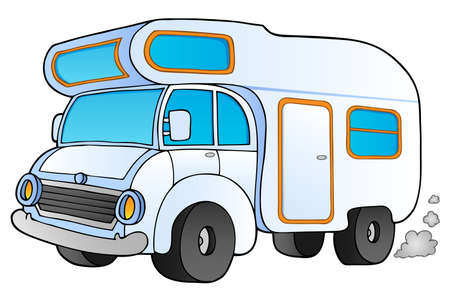 Cartoon camping van -   illustration