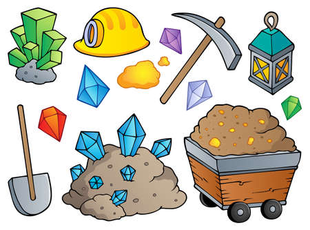Mining theme collection  Vector