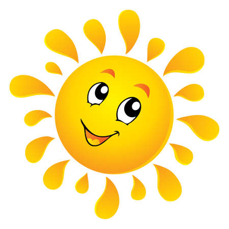 cartoon summer: Sun theme image 3 -   illustration  Illustration