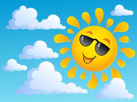 Sun theme image 6 - vector illustration  Vector