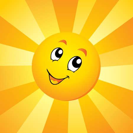 Sun theme  Ilustrace