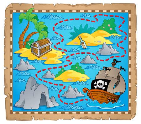carte au trésor: Carte au trésor thème