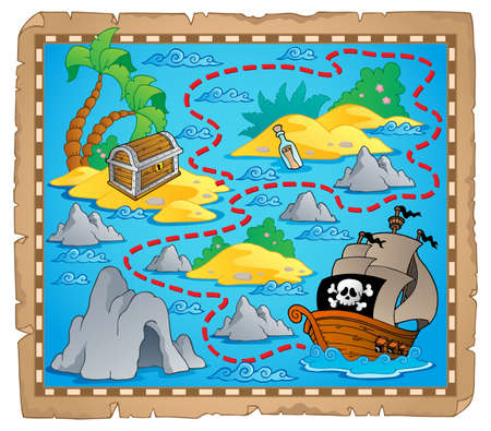 navigation map: Treasure map theme Illustration