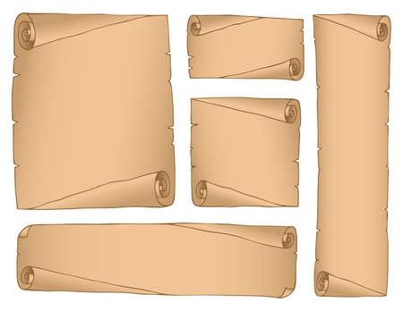 Vintage parchments collection Stock Vector - 13879079