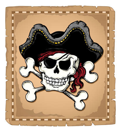 scare: Vintage pirate skull theme