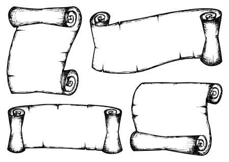 고대: 빈티지 스크롤 모음