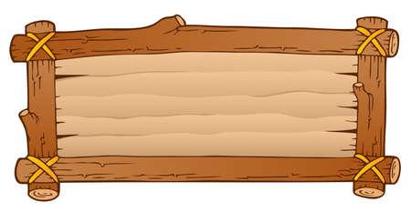 planche de bois: Th�me planche de bois Illustration