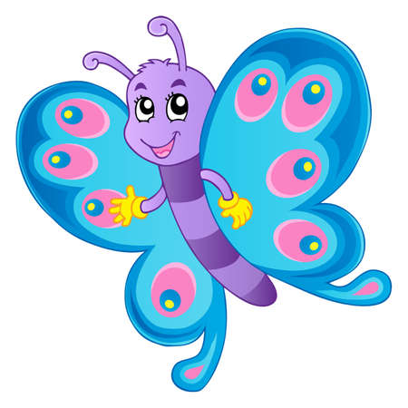 aerial animal: Butterfly theme image 1 Stock Photo