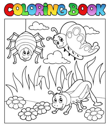 Coloring book bugs theme image 1 photo