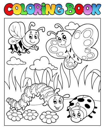 Coloring book bugs theme image 2 photo