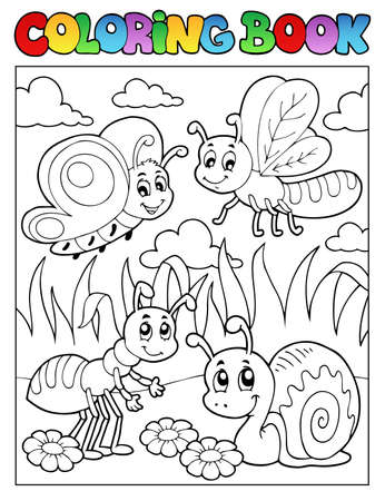 Coloring book bugs theme image 3 photo