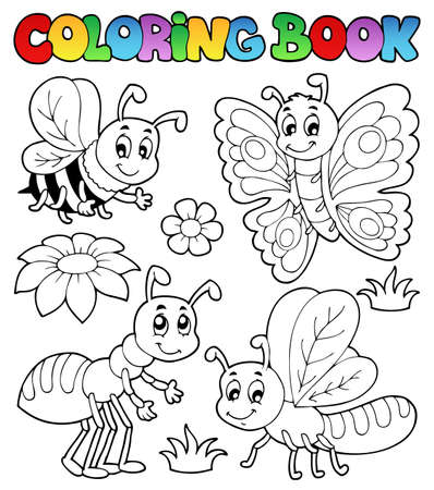 cartoon ant: Coloring book cute bugs 2