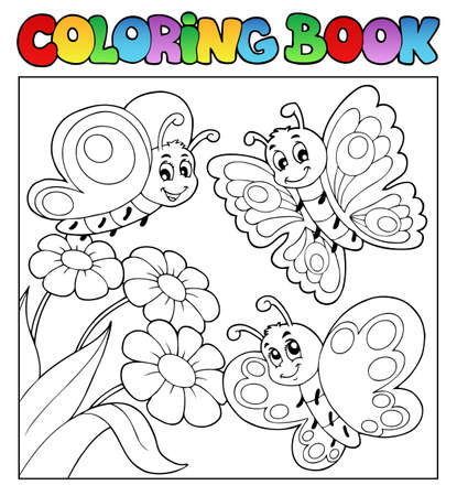 coloring book: Coloring book with butterflies 3