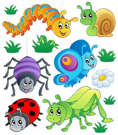 caterpillar: Cute bugs collection 1 Stock Photo
