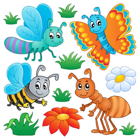 honeybee: Cute bugs collection 2 Stock Photo