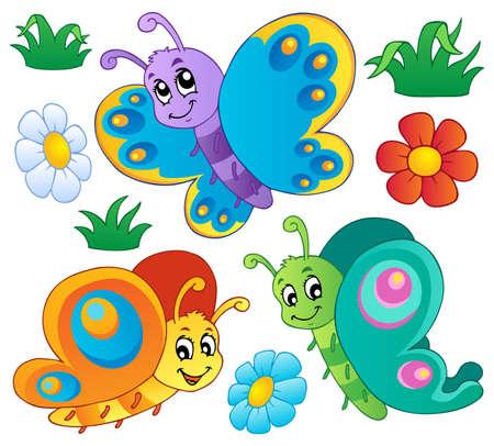 tekening vlinder: Cute vlinders collectie 3