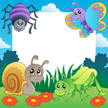 Frame with bugs theme 2 Stock Photo - 14402013