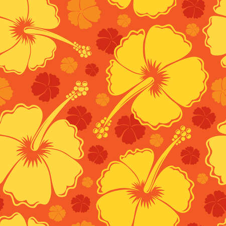 hibiscus background: Hibiscus seamless background