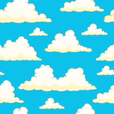 Seamless background with clouds 9 Stock Photo