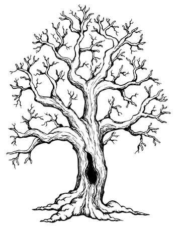 arboles de caricatura: Tema del �rbol de dibujo 1