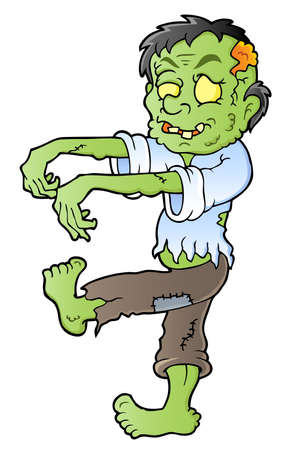 haunt: Cartoon zombie theme image 1 - vector illustration  Illustration