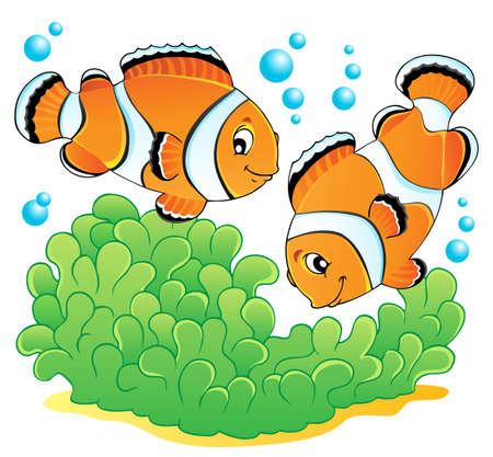 pez payaso: Imagen del tema de los pescados del payaso 1 ilustraci�n