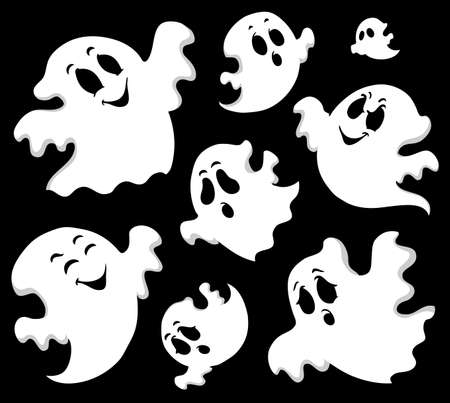 halloween cartoon: Ghost theme image 1  illustration  Illustration