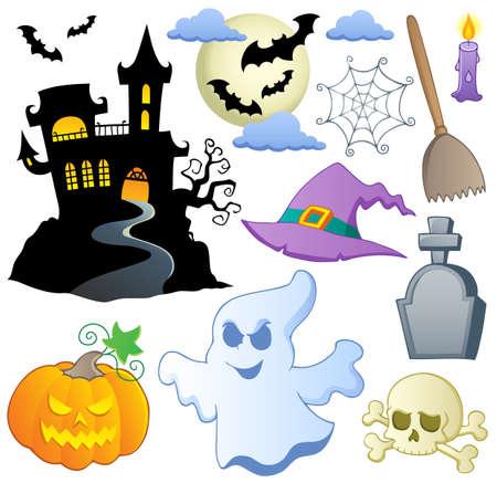 haunted house: Halloween theme collection 1  illustration  Illustration